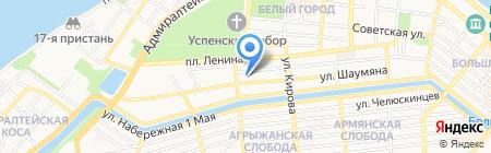 Черновская на карте Астрахани