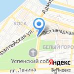 Астраханский Кремль на карте Астрахани