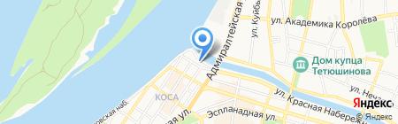Арбузов на карте Астрахани
