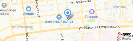 Коралл на карте Астрахани