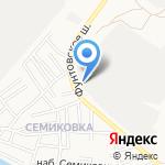 Сапсан на карте Астрахани