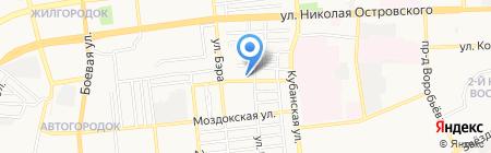 Меркуша на карте Астрахани