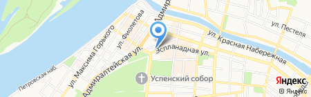 Код на карте Астрахани