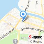 Ниточка на карте Астрахани
