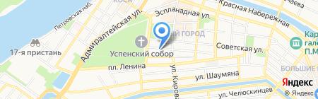 Администрация г. Астрахани на карте Астрахани