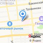 Общеобразовательная школа-интернат №3 на карте Астрахани