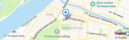 АстраханьАвиаТур на карте Астрахани