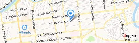 Витринки на карте Астрахани