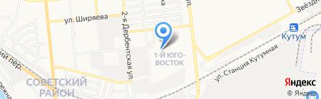 Исток на карте Астрахани