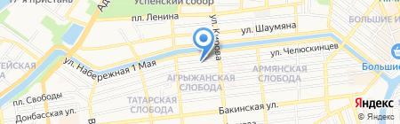 Дорогая Астрахань на карте Астрахани