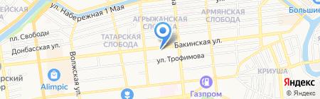 Автоградбанк на карте Астрахани