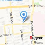 Карамель на карте Астрахани
