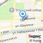 Народная на карте Астрахани