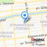 Магазин мясной и рыбной продукции на карте Астрахани