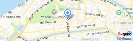 Шарлау на карте Астрахани