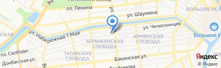Астраханьюжгазпроект на карте Астрахани