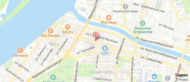 Карта расположения пункта доставки Ростелеком в городе Астрахань