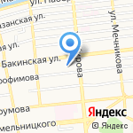 Динамо на карте Астрахани