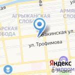 Проект на карте Астрахани