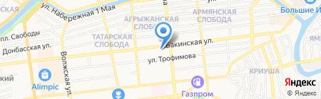АКВА-Инновации на карте Астрахани