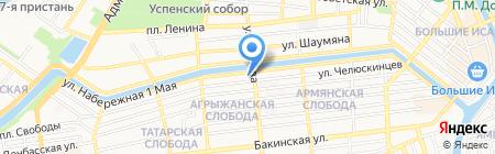 СБС на карте Астрахани