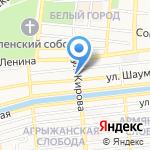 Праздник цветов на карте Астрахани