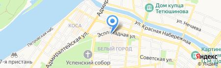 Тройка на карте Астрахани