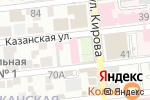 Схема проезда до компании Областной клинический стоматологический центр в Астрахани