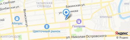 Адванта на карте Астрахани