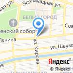 Шоколад на карте Астрахани