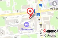 Схема проезда до компании Милен в Астрахани