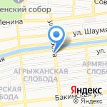 Канцелярский на карте Астрахани