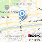 Надежда на карте Астрахани