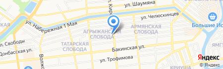 ПораДарить на карте Астрахани