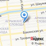 Арт Ривер на карте Астрахани