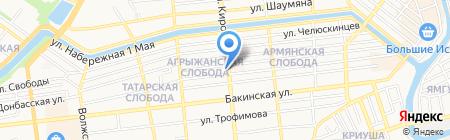 Зевс на карте Астрахани
