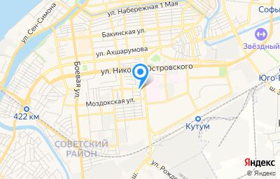 Местоположение на карте пункта техосмотра по адресу г Астрахань, ул Челябинская, д 1