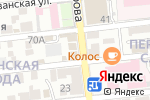 Схема проезда до компании Морская звезда в Астрахани