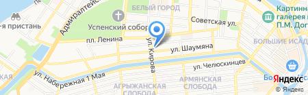 Авоська на карте Астрахани
