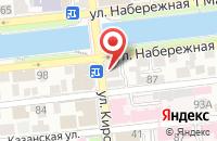Схема проезда до компании Унция в Астрахани