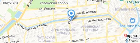 Веселый цирюльник на карте Астрахани