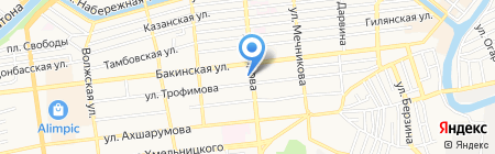 РСТ на карте Астрахани