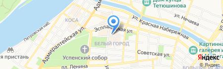 Агат на карте Астрахани