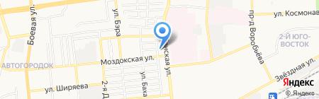 Аст-рамка на карте Астрахани