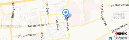 Астраханская стекольная мастерская на карте Астрахани