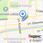 Раут на карте Астрахани