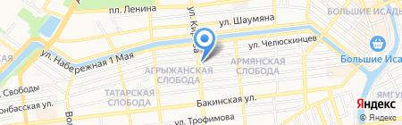 Сбербанк России на карте Астрахани