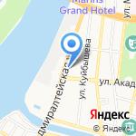 Хазар-Торг на карте Астрахани