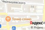 Схема проезда до компании Открытки`Н в Астрахани
