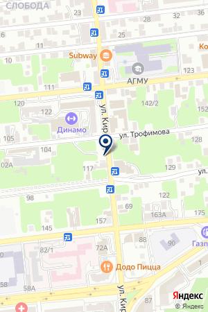 БЕРЕГИНЯ СТРАХОВАЯ КОМПАНИЯ на карте Астрахани